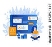 template for shopping online.... | Shutterstock . vector #1843914664