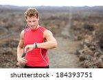 running athlete man looking at... | Shutterstock . vector #184393751