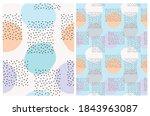 cute hand drawn geometric...   Shutterstock .eps vector #1843963087