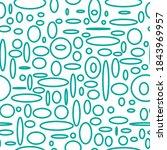 ovals   seamless pattern. green ... | Shutterstock .eps vector #1843969957