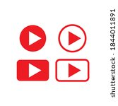 play video icon  red buttons...   Shutterstock .eps vector #1844011891