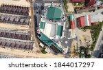 Top view of a new public mosque in Gua Musang Kelantan Malaysia ,khow as Masjid Razaleigh or sec masjidil haram