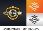 shield mechanical gear strong... | Shutterstock .eps vector #1844028397
