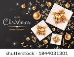 horizontal banner with golden...   Shutterstock .eps vector #1844031301