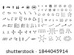 collection of hand drawn marker ... | Shutterstock .eps vector #1844045914