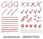 red grade results mark for test.... | Shutterstock .eps vector #1844077051