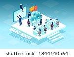 isometric vector of business... | Shutterstock .eps vector #1844140564