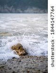 Waves Crashing On A Rock On The ...