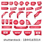 set of stickers for new brands  ... | Shutterstock .eps vector #1844165014