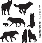 wolfs vector | Shutterstock .eps vector #18441679