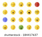 smiley faces | Shutterstock .eps vector #184417637