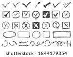 check signs sketch  voting... | Shutterstock . vector #1844179354