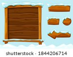 winter game ui wooden buttons...