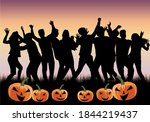 party   halloween. black people ... | Shutterstock . vector #1844219437