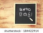 byod concept written on... | Shutterstock . vector #184422914