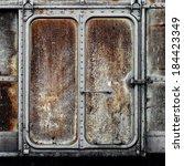 Vintage Railroad Container Door