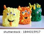 Cute Orange Mini Monster Cake...