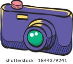 camera icon in color drawing.... | Shutterstock .eps vector #1844379241