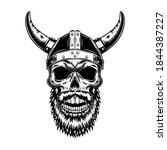 Nordic Knight Skull In Horned...
