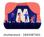 singers playing in tragedy... | Shutterstock .eps vector #1844387401