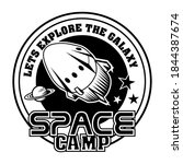 retro spaceship in cosmos... | Shutterstock .eps vector #1844387674