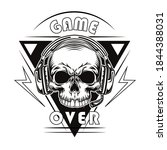 black game over badge vector... | Shutterstock .eps vector #1844388031