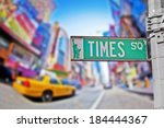 times square sign in new york... | Shutterstock . vector #184444367