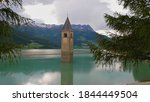 Reservoir reschensee  south...