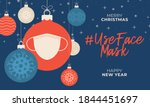 use face mask christmas... | Shutterstock .eps vector #1844451697