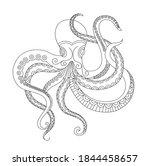 Octopus Vector Vintage...