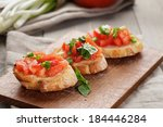 simple italian appetizing... | Shutterstock . vector #184446284