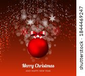 merry christmas party...   Shutterstock .eps vector #1844469247