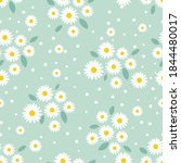 seamless pattern with daisy... | Shutterstock .eps vector #1844480017