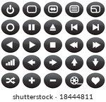 media icons | Shutterstock .eps vector #18444811