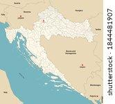 vector map of municipalities of ...   Shutterstock .eps vector #1844481907