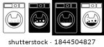 washing machine in flat and...   Shutterstock . vector #1844504827
