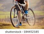 Closeup Of Cyclist Man Legs...