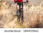 detail of cyclist man riding... | Shutterstock . vector #184453061