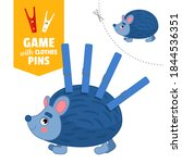 printable educational game with ... | Shutterstock .eps vector #1844536351