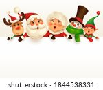 christmas companions with big... | Shutterstock .eps vector #1844538331