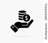 hand with coins icon  logo.... | Shutterstock .eps vector #1844545921