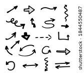 vector set of hand drawn arrows ... | Shutterstock .eps vector #1844550487