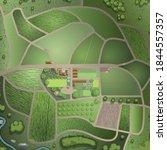 Vector Illustration. Green Farm ...