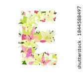graceful floral abc with white... | Shutterstock .eps vector #1844588497