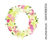 graceful floral abc with white... | Shutterstock .eps vector #1844588554
