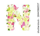 graceful floral abc with white... | Shutterstock .eps vector #1844588557