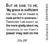 but he said to me   my grace is ... | Shutterstock .eps vector #1844598301