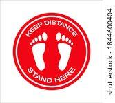 footprint floor sticker  foot...   Shutterstock .eps vector #1844600404