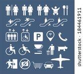 public icons set | Shutterstock .eps vector #184461911