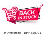 back in stock  red banner with... | Shutterstock .eps vector #1844630731